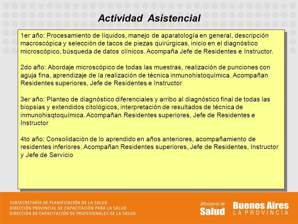 Actividad Asistencial 1er año: Procesamiento de líquidos, manejo de aparatología en general, descripción macroscópica y selección de tacos de piezas q