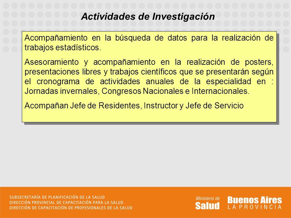 Información Complementaria Integrantes del servicio Jefe de Servicio: Dra Etel Lorenzatti Médicos de planta: René G.
