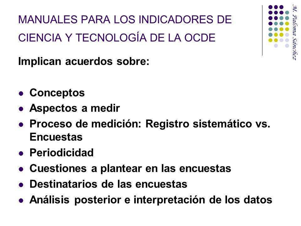 MANUALES OCDE 1.I + D- Manual de Frascati (2002) y Suplemento del Manual (1989) 2.