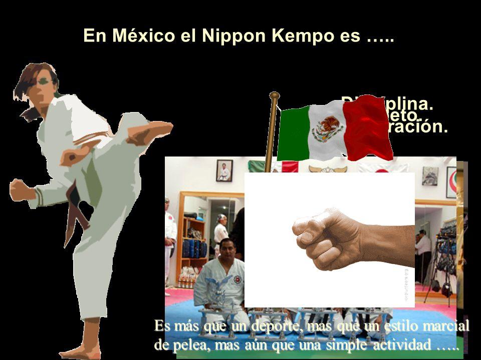 En México el Nippon Kempo es …..Disciplina. Respeto.