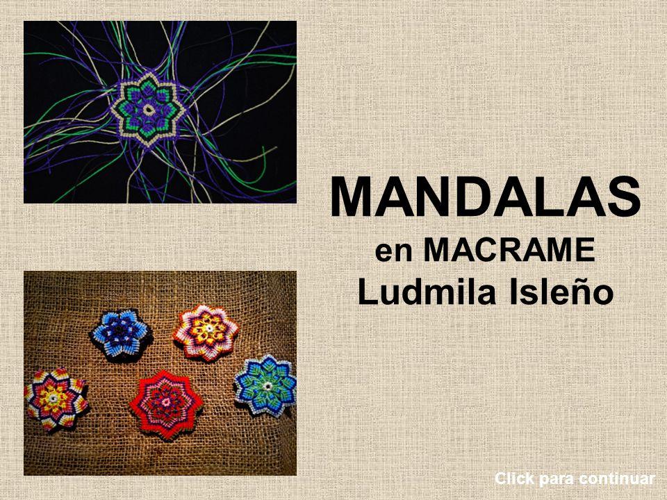 MANDALAS en MACRAME Ludmila Isleño Click para continuar