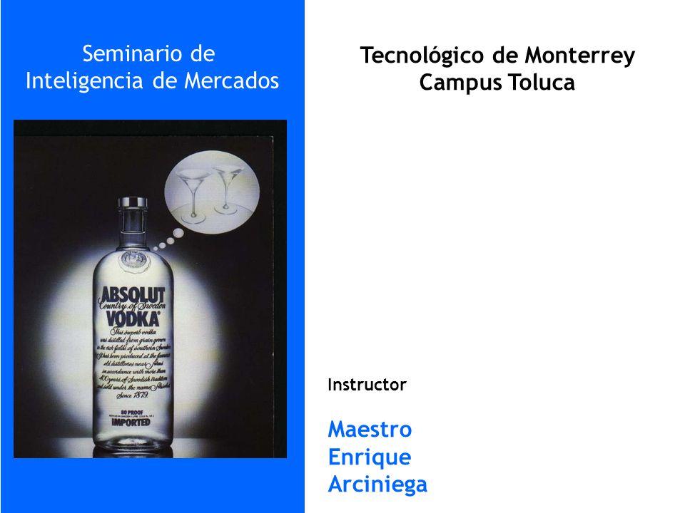 Tecnológico de Monterrey Campus Toluca Seminario de Inteligencia de Mercados Instructor Maestro Enrique Arciniega