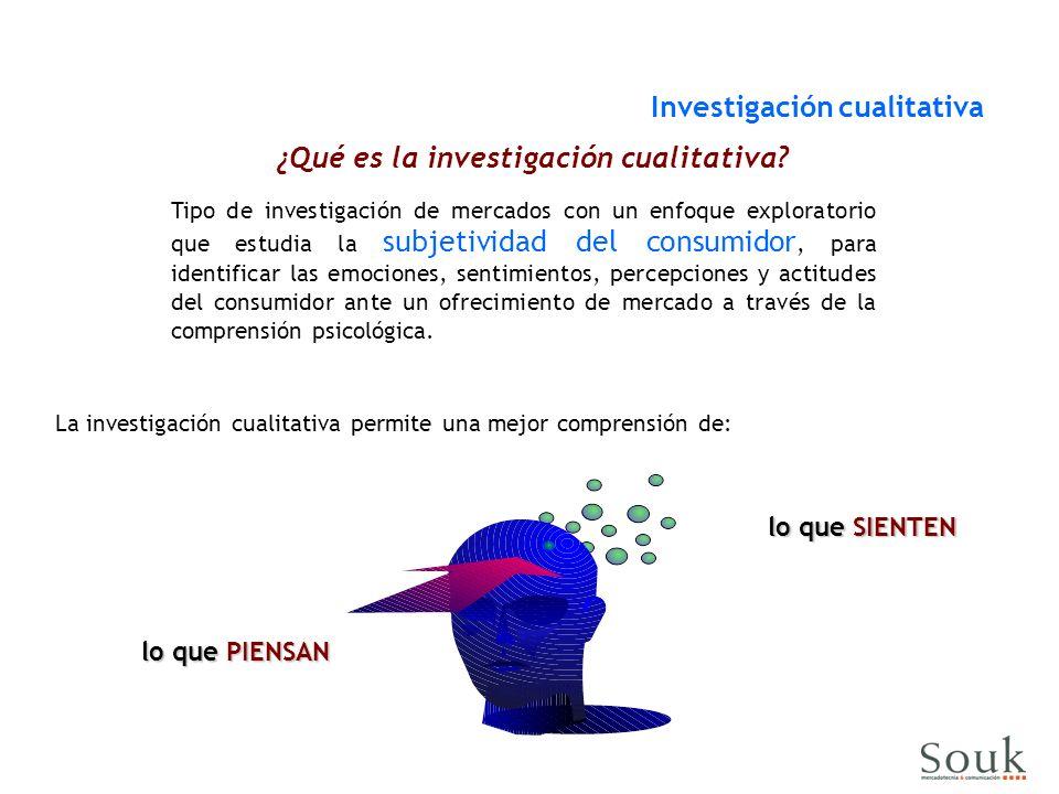 ¿Qué es la investigación cualitativa? Tipo de investigación de mercados con un enfoque exploratorio que estudia la subjetividad del consumidor, para i