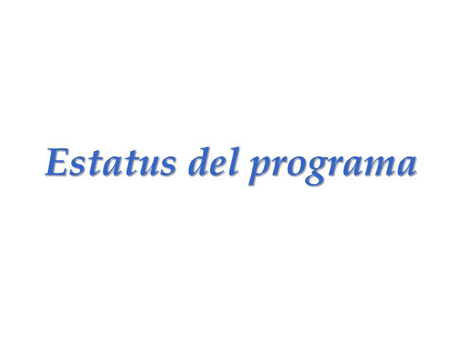 Estatus del programa