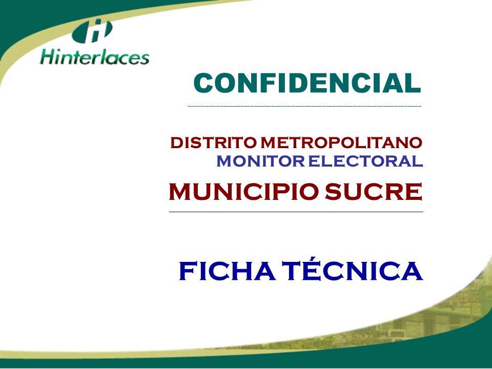 FICHA TÉCNICA CONFIDENCIAL ____________________________________________________________________ DISTRITO METROPOLITANO MONITOR ELECTORAL MUNICIPIO SUC