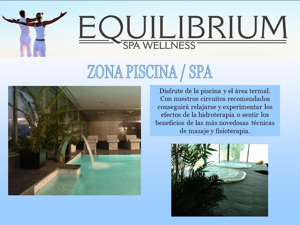 Disfrute de la piscina y el área termal. Con nuestros circuitos recomendados conseguirá relajarse y experimentar los efectos de la hidroterapia o sent