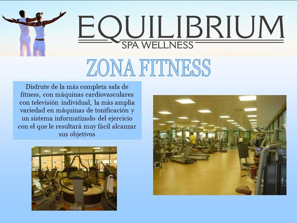 Disfrute de la más completa sala de fitness, con máquinas cardiovasculares con televisión individual, la más amplia variedad en máquinas de tonificaci