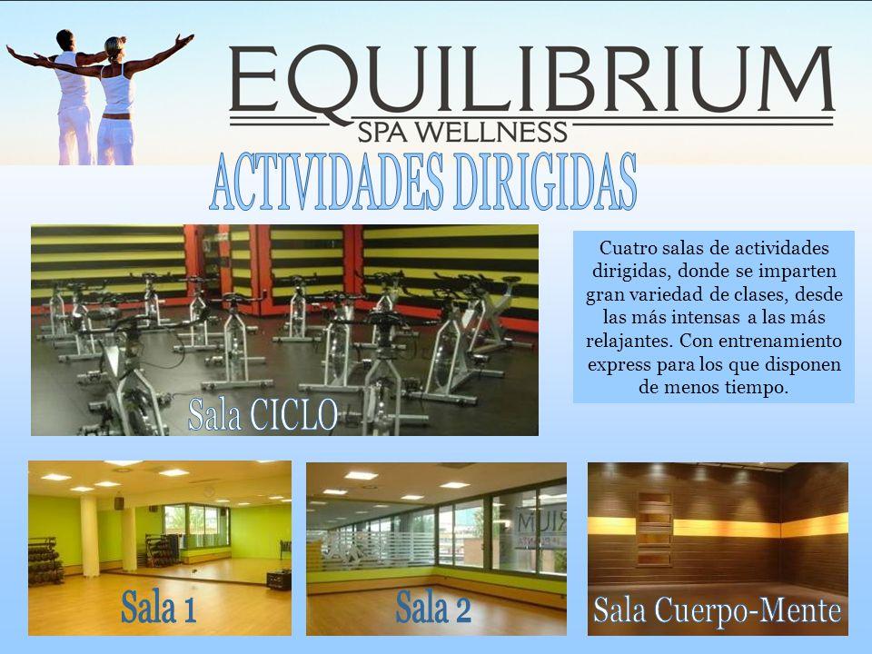 Cuatro salas de actividades dirigidas, donde se imparten gran variedad de clases, desde las más intensas a las más relajantes. Con entrenamiento expre