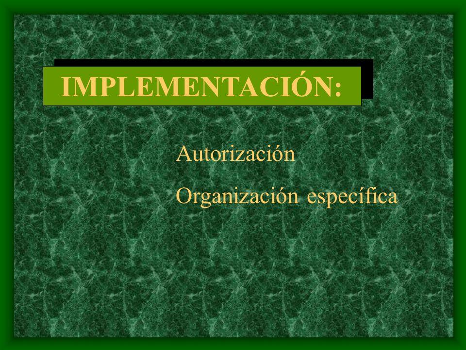 Programas Procedimientos Políticas Presupuestos ORGANIZACIÓN GENERAL PLANEACIÓN