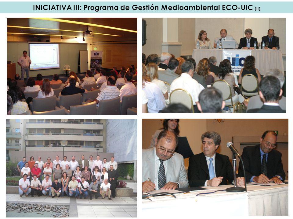 INICIATIVA III: Programa de Gestión Medioambiental ECO-UIC (II)