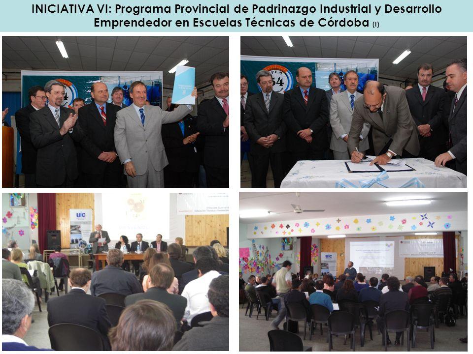 INICIATIVA VI: Programa Provincial de Padrinazgo Industrial y Desarrollo Emprendedor en Escuelas Técnicas de Córdoba (I)