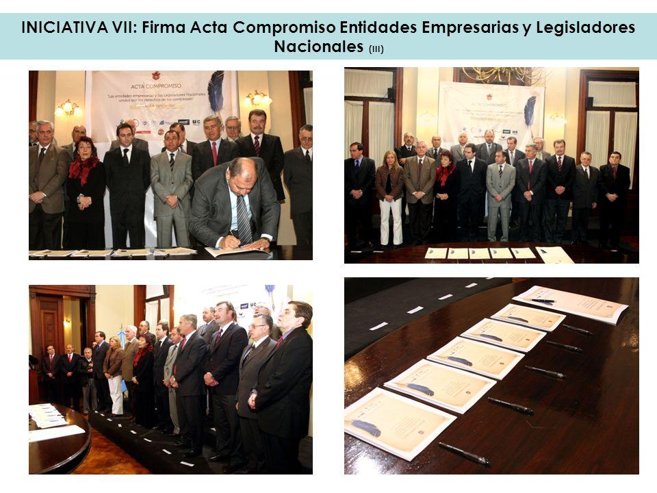 INICIATIVA VII: Firma Acta Compromiso Entidades Empresarias y Legisladores Nacionales (III)