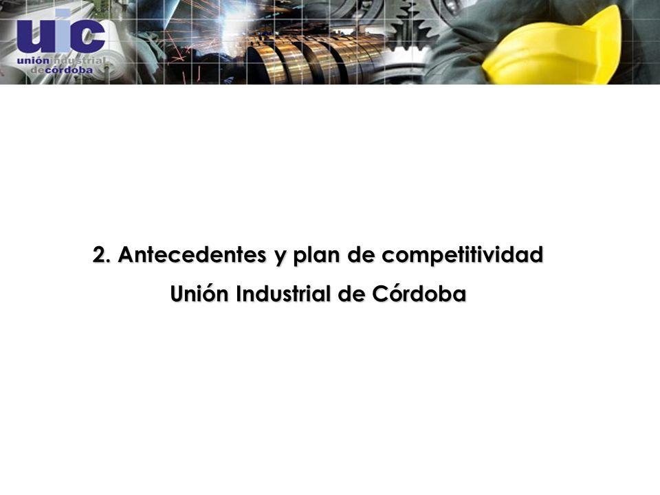 2. Antecedentes y plan de competitividad Unión Industrial de Córdoba