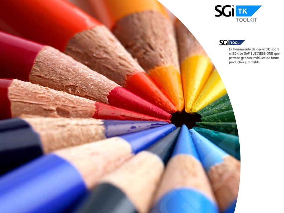 Principales Valores SGI Toolkit se presenta como una nueva capa de desarrollo sobre SDK de SAP B1 que aumenta sustancialmente el potencial de desarrollo de nuevas funcionalidades alrededor de SAP B1.