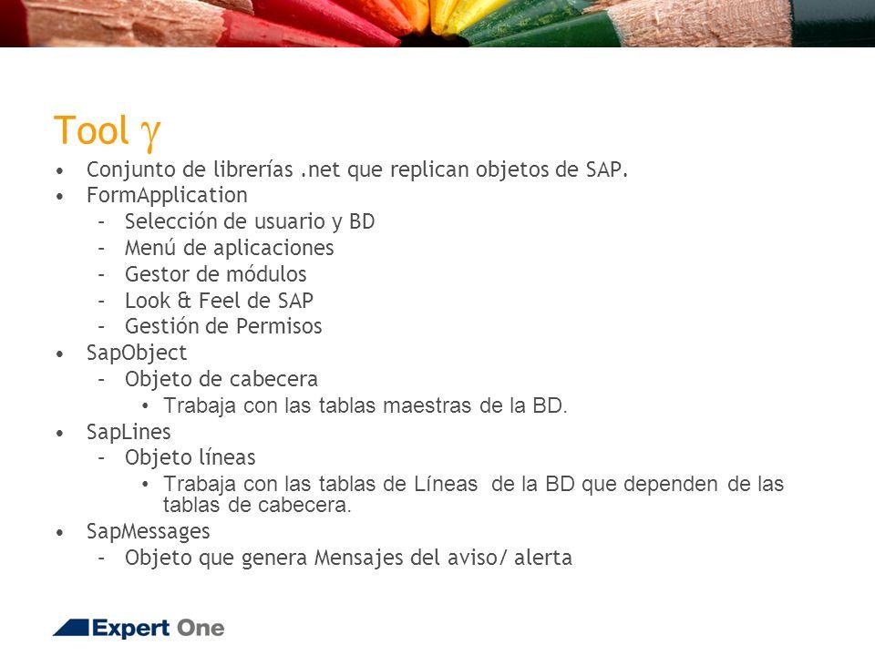 Tool Conjunto de librerías.net que replican objetos de SAP.