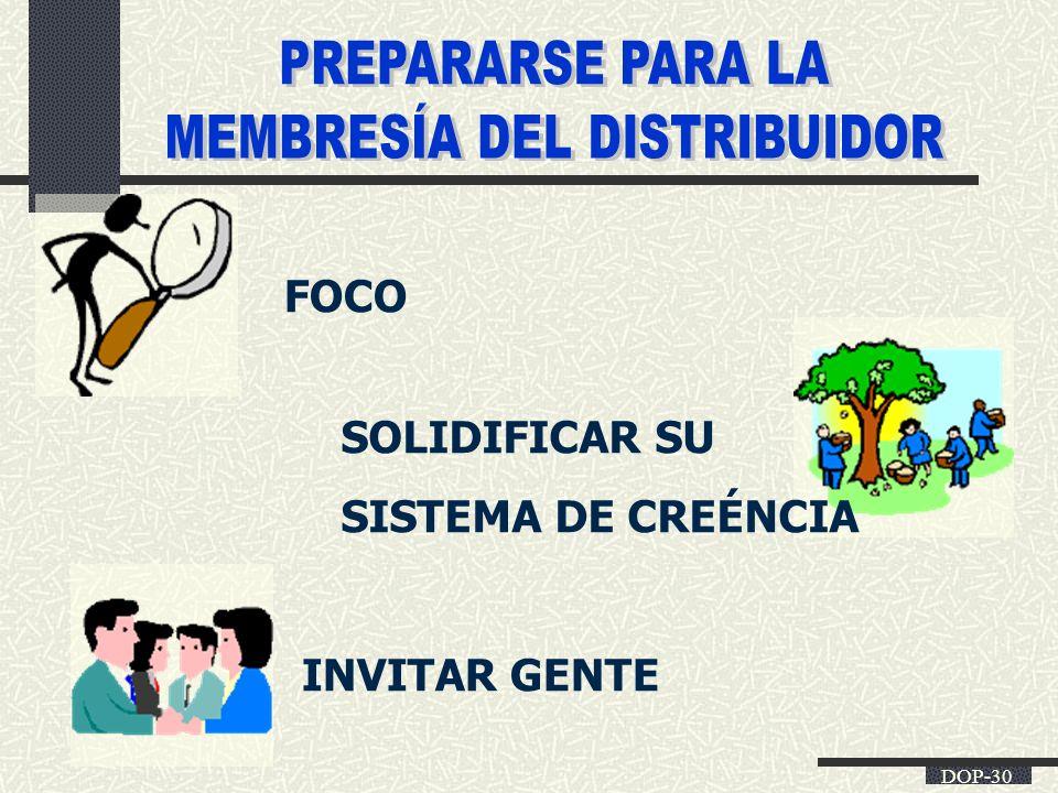 DOP-30 FOCO SOLIDIFICAR SU SISTEMA DE CREÉNCIA INVITAR GENTE
