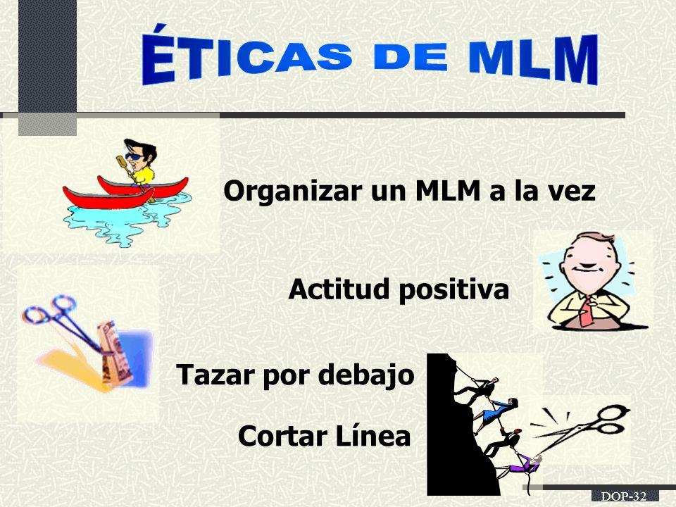 DOP-32 Organizar un MLM a la vez Actitud positiva Tazar por debajo Cortar Línea