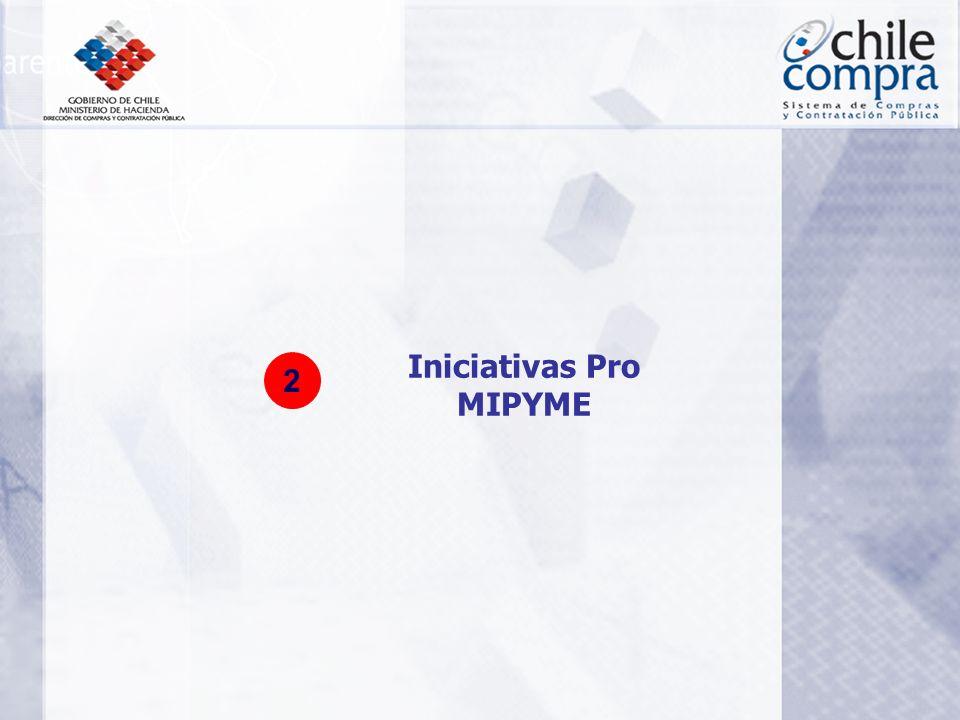 Introducción de Nueva Normativa (Reglamento de la Ley) 100% municipios y FF.AA operando el 2005 Registro Nacional de Proveedores en operación Plataforma en plena operación con el Ciclo de compras digitalizado completamente, incluyendo el ciclo financiero.
