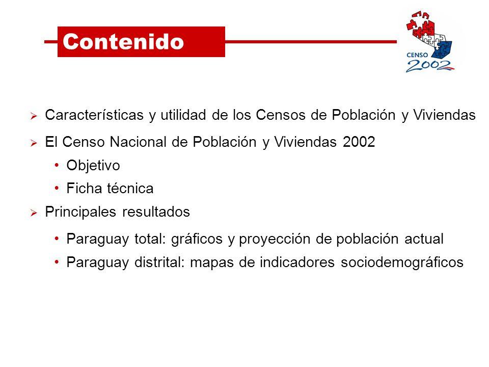 Paraguay por distritos Distritos con mayor presencia de mujeres: Distritos con mayor presencia de hombres: Asunción San Lorenzo Fernando de la Mora Lambaré Curuguaty Yhú Choré San Estanislao