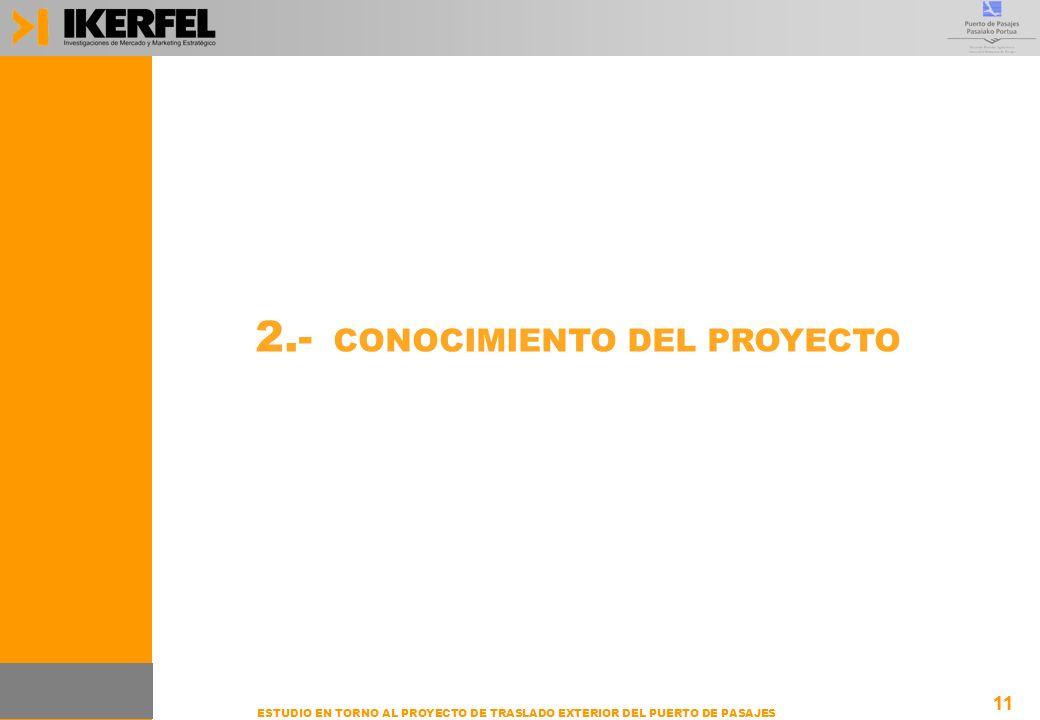 11 ESTUDIO EN TORNO AL PROYECTO DE TRASLADO EXTERIOR DEL PUERTO DE PASAJES 2.- CONOCIMIENTO DEL PROYECTO 11