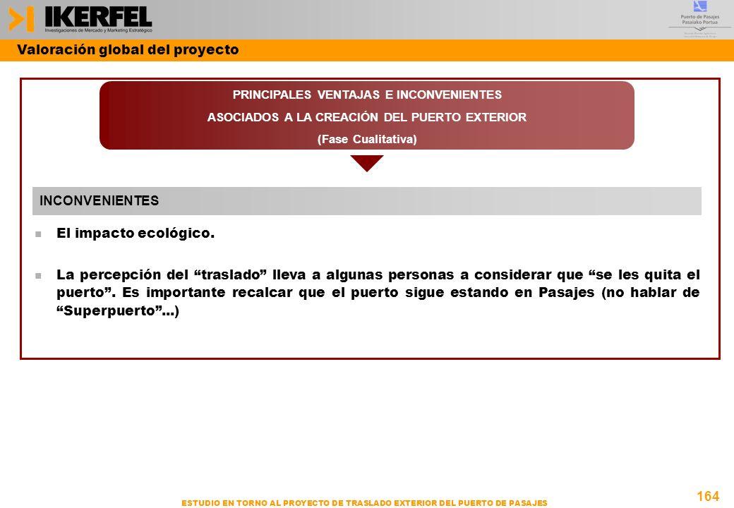 164 ESTUDIO EN TORNO AL PROYECTO DE TRASLADO EXTERIOR DEL PUERTO DE PASAJES n El impacto ecológico.