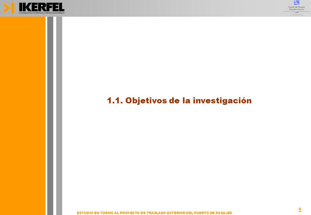 5 ESTUDIO EN TORNO AL PROYECTO DE TRASLADO EXTERIOR DEL PUERTO DE PASAJES 1.1. Objetivos de la investigación