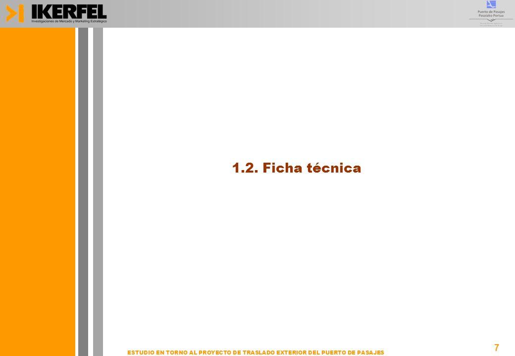7 ESTUDIO EN TORNO AL PROYECTO DE TRASLADO EXTERIOR DEL PUERTO DE PASAJES 1.2. Ficha técnica