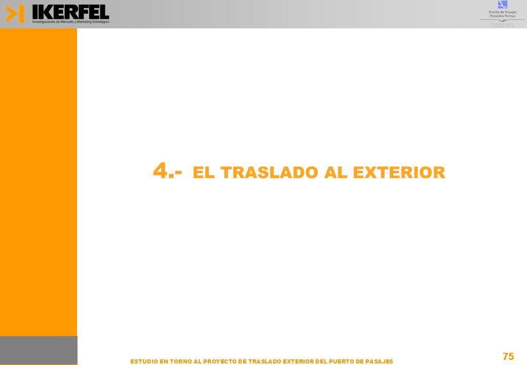 75 ESTUDIO EN TORNO AL PROYECTO DE TRASLADO EXTERIOR DEL PUERTO DE PASAJES 4.- EL TRASLADO AL EXTERIOR 75