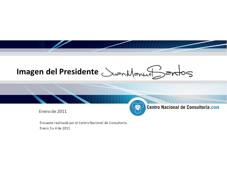 Imagen del Presidente Enero de 2011 Encuesta realizada por el Centro Nacional de Consultoría.