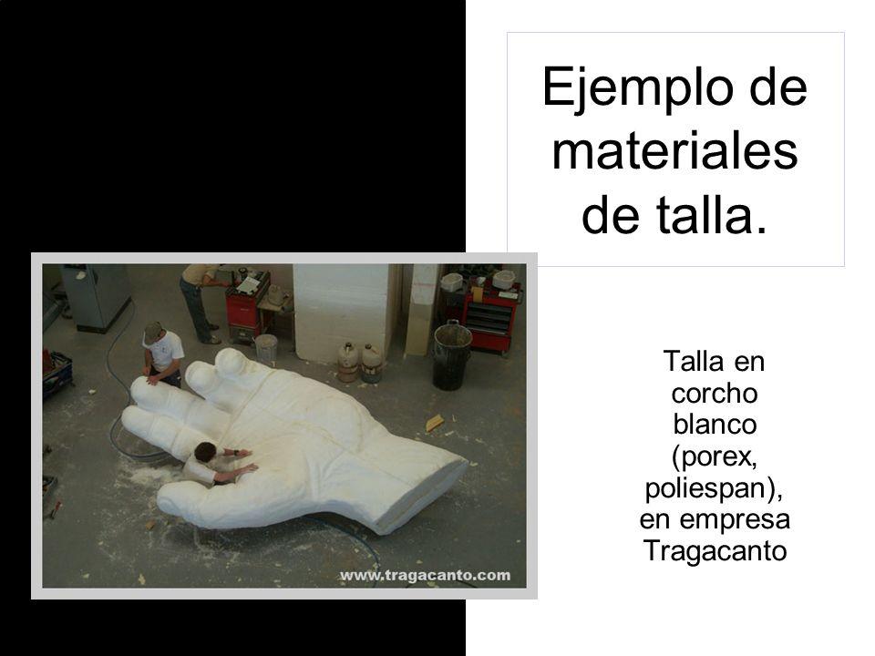 Ejemplo de materiales de talla. Talla en marfil (eboraria)