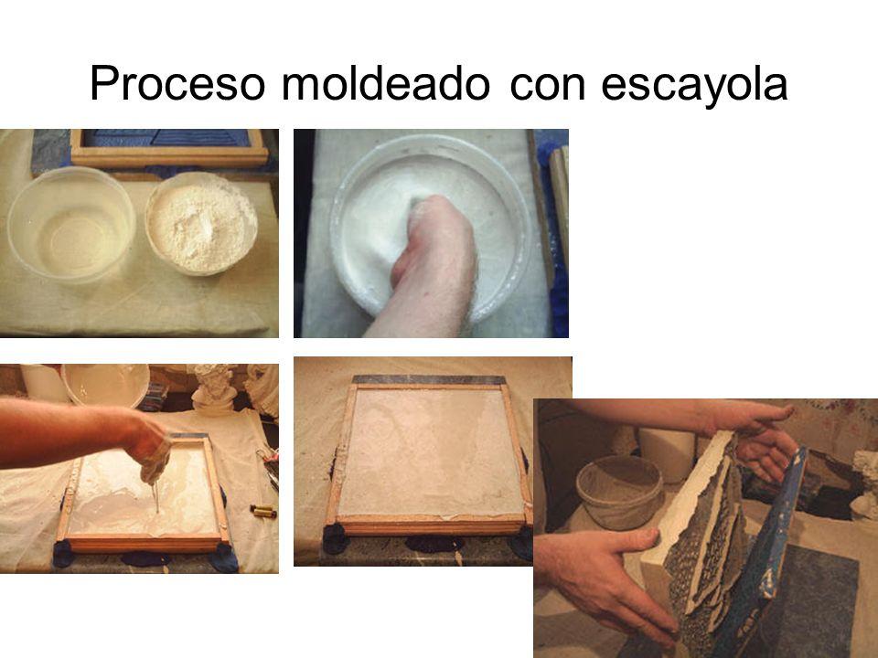 Proceso de moldeado de un relieve con molde silicona muy sencillo