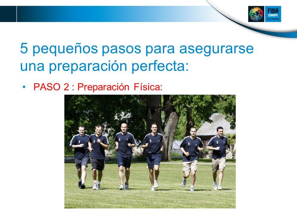 5 pequeños pasos para asegurarse una preparación perfecta: PASO 2 : Preparación Física: