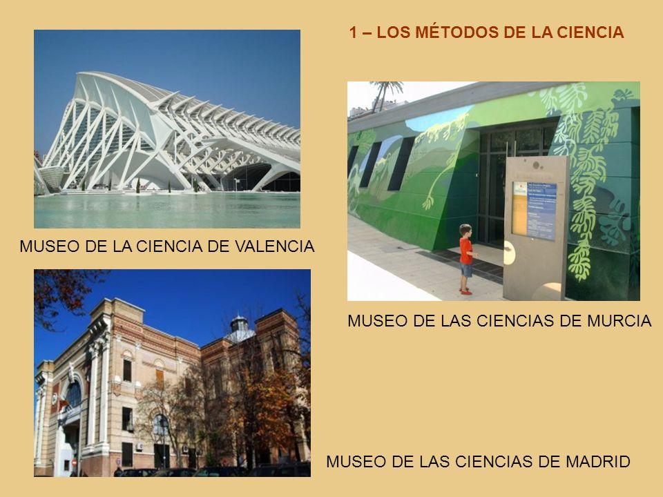 MUSEO DE LA CIENCIA DE VALENCIA MUSEO DE LAS CIENCIAS DE MURCIA MUSEO DE LAS CIENCIAS DE MADRID 1 – LOS MÉTODOS DE LA CIENCIA