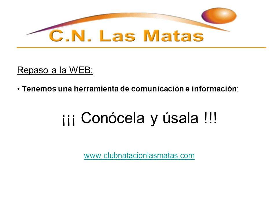 Repaso a la WEB: Tenemos una herramienta de comunicación e información: ¡¡¡ Conócela y úsala !!.
