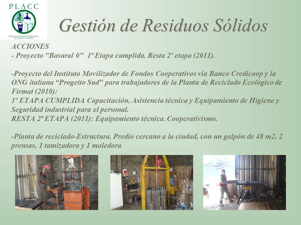 ACCIONES - Proyecto