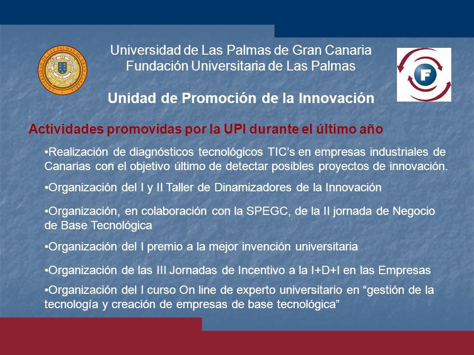 Universidad de Las Palmas de Gran Canaria Fundación Universitaria de Las Palmas Unidad de Promoción de la Innovación Realización de diagnósticos tecno
