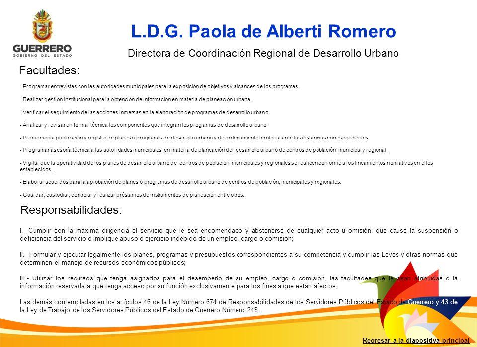Regresar a la diapositiva principal L.D.G.