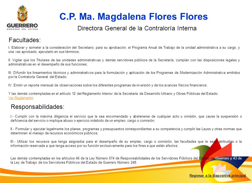 Regresar a la diapositiva principal C.P.Ma.