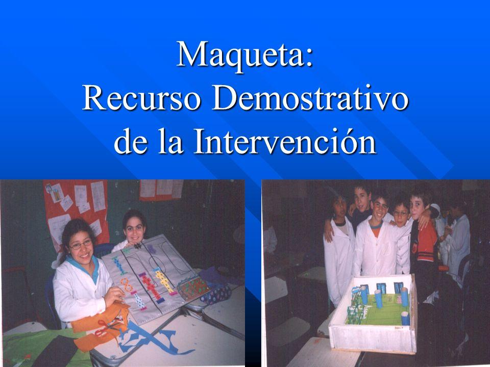 Maqueta: Recurso Demostrativo de la Intervención