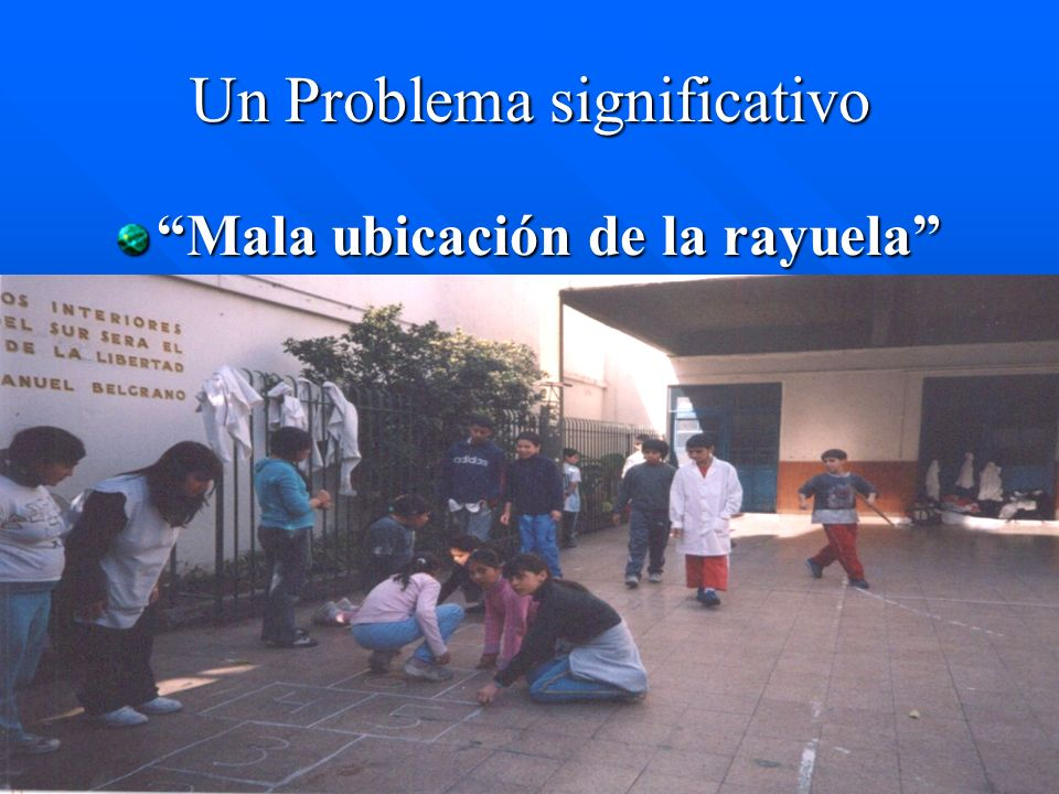 Un Problema significativo Mala ubicación de la rayuelaMala ubicación de la rayuela