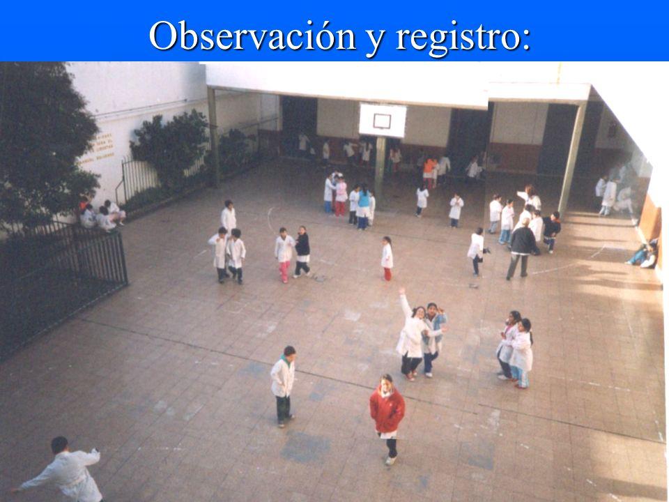 Observación y registro: Observación y registro: