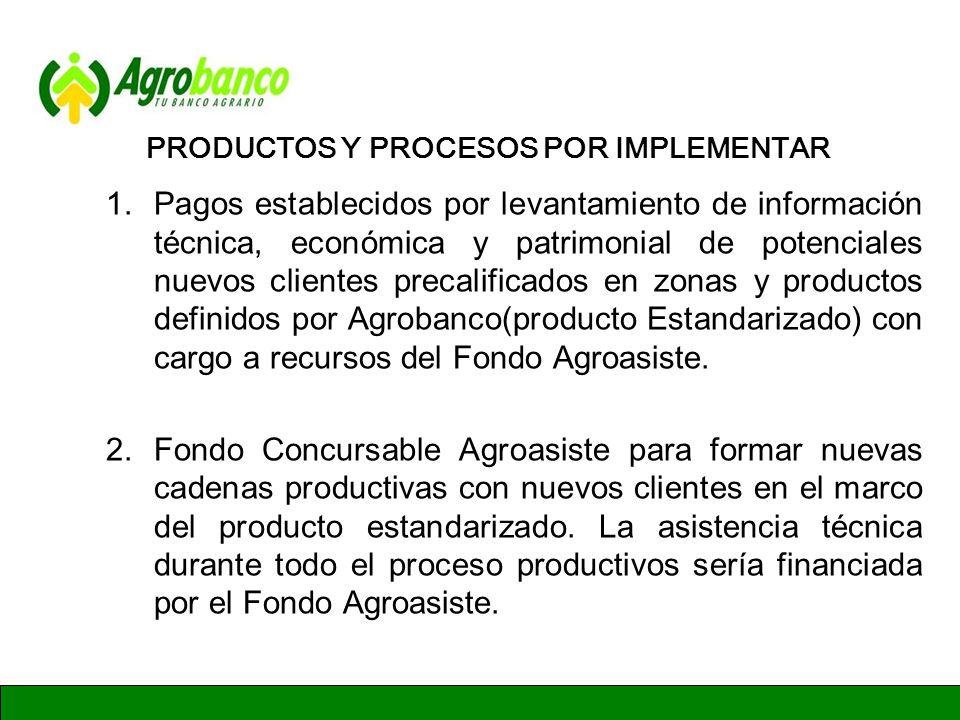 GERENCIA DE ADMINISTRACION Y FINANZAS PRODUCTOS Y PROCESOS POR IMPLEMENTAR 3.