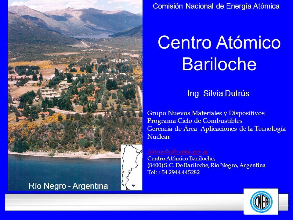 LOGOTIPO DE SU EMPRESA Centro Atómico Bariloche Comisión Nacional de Energía Atómica Río Negro - Argentina Ing. Silvia Dutrús Grupo Nuevos Materiales