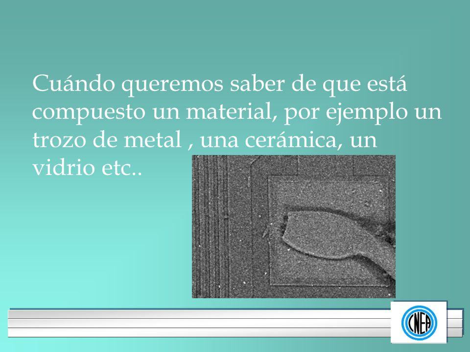 LOGOTIPO DE SU EMPRESA Cuándo queremos saber de que está compuesto un material, por ejemplo un trozo de metal, una cerámica, un vidrio etc..