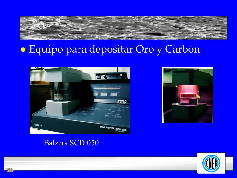 LOGOTIPO DE SU EMPRESA l Equipo para depositar Oro y Carbón Balzers SCD 050