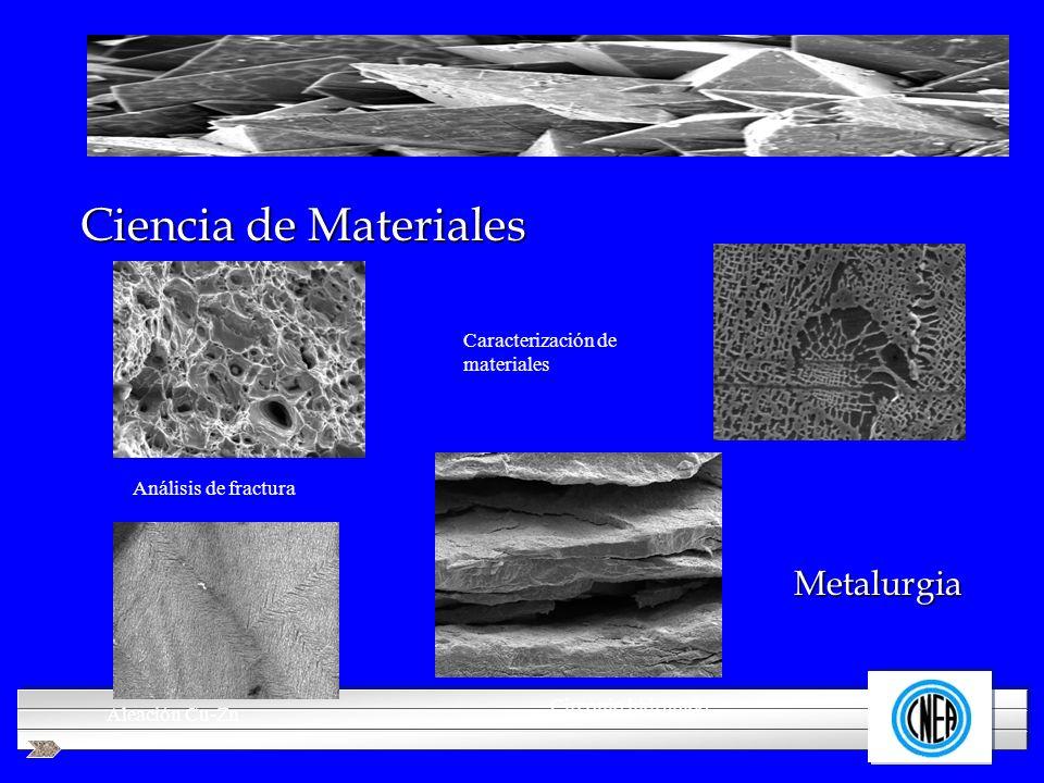 LOGOTIPO DE SU EMPRESA Ciencia de Materiales Análisis de fractura Caracterización de materiales Metalurgia Aleación Cu-Zn Circonio hidrurado