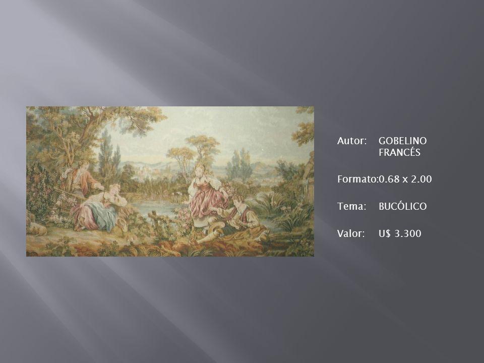 Autor:GOBELINO FRANCÉS Formato:0.68 x 2.00 Tema:BUCÓLICO Valor:U$ 3.300