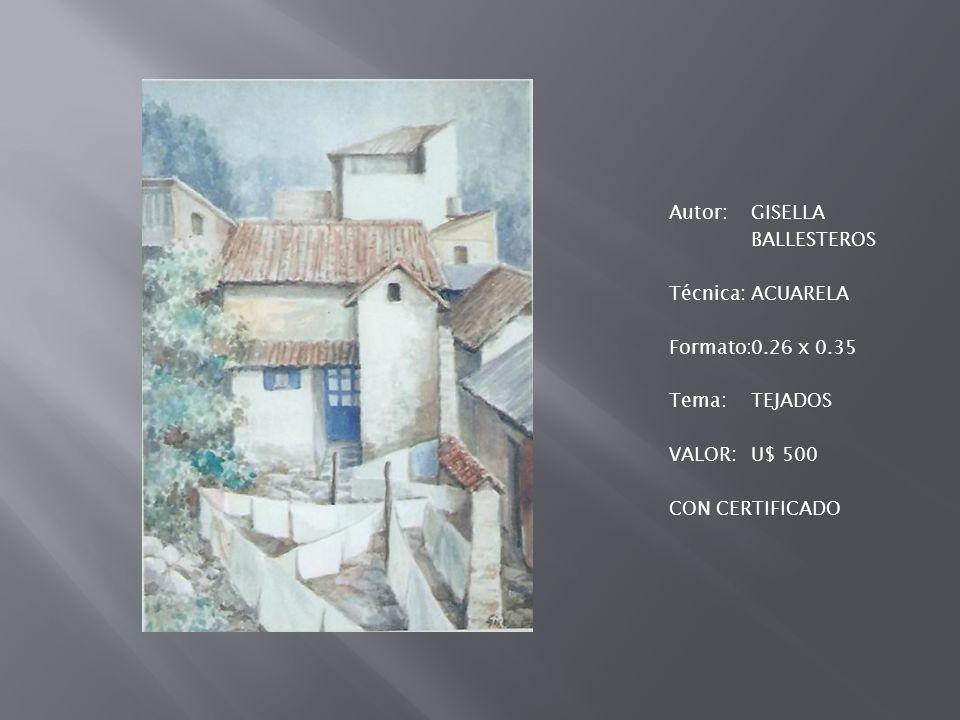 Autor:GISELLA BALLESTEROS Técnica:ACRÍLICO SOBRE LIENZO Formato:0.50 x 0.70 Tema:COLEGIALAS Valor:U$ 500 CON CERTIFICADO