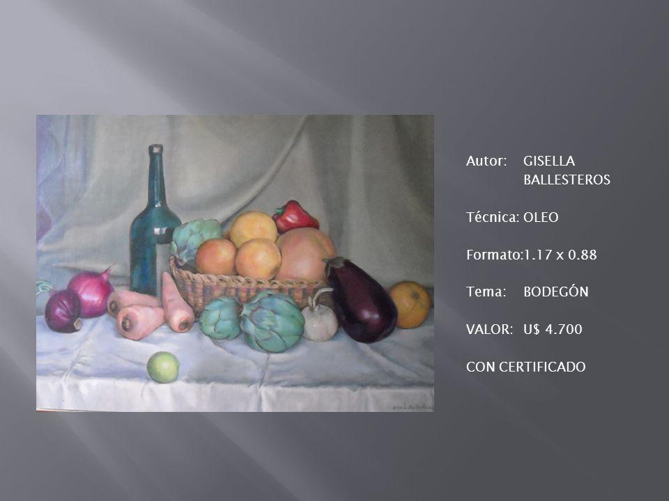Autor:FRANCISCO GÓNGORA Técnica:MIXTA Formato:0.29 x 0.46 Tema:BOTELLAS Valor:U$ 250 CON CERTIFICADO