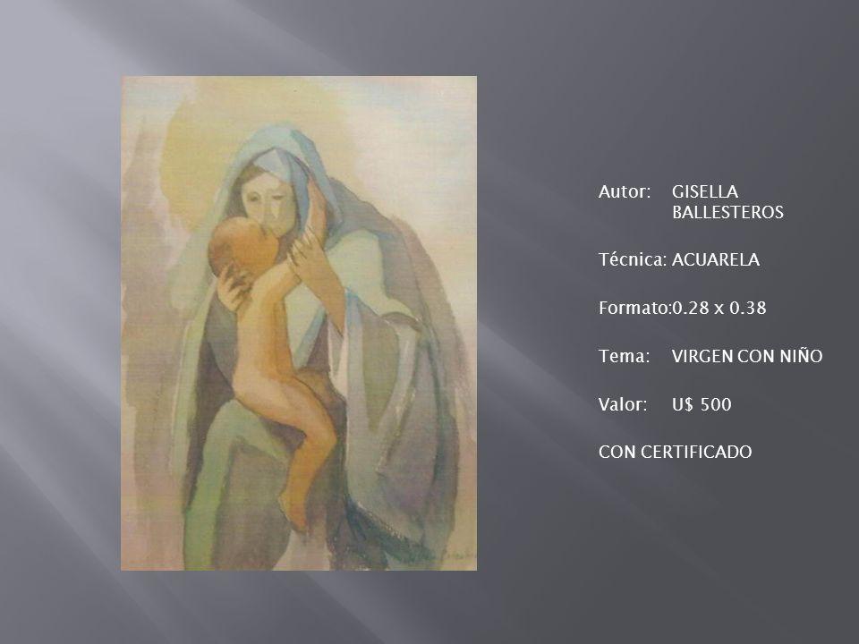 Autor:GONZALEZ Técnica:ACUARELA Formato:0.72 x 1, 03 Tema:CALLE CARTAGENERA VALOR:U$ 2.000